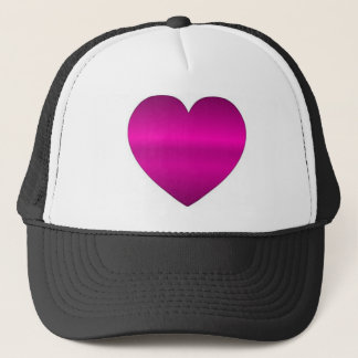 Shiny Pink Heart Trucker Hat