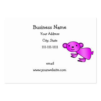Shiny pink koala business cards