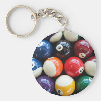 Shiny Pool balls close up Key Ring