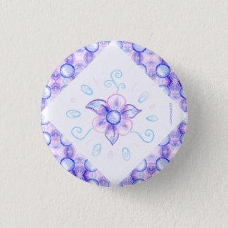 Shiny purple flower button