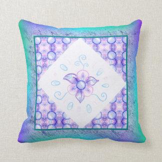 Shiny purple flower throw pillow (Customizable!)