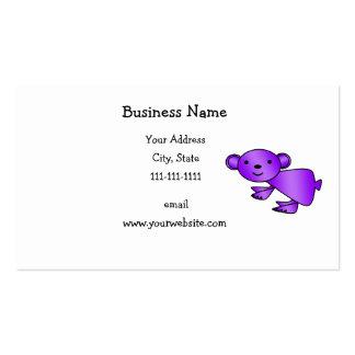 Shiny purple koala business cards