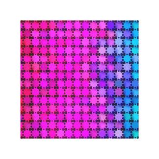 Shiny Rainbow Stars Canvas Print