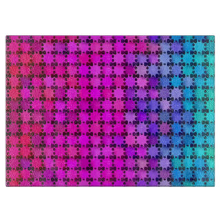 Shiny Rainbow Stars Cutting Board