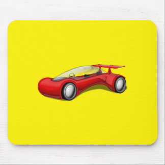 Shiny Red Aerodynamic Futuristic Car with Spoiler Mouse Pads