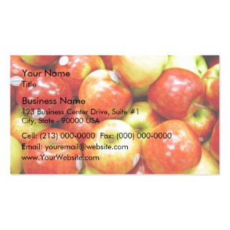 Shiny red apples business cards