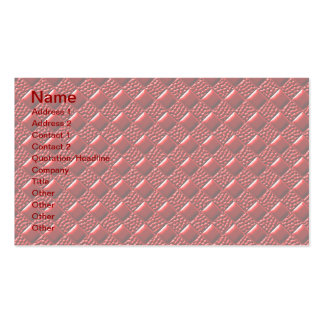 Shiny Red Business Card Template