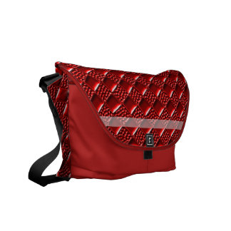 Shiny Red Courier Bags