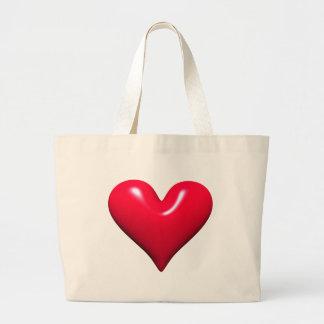Shiny Red Heart Bag