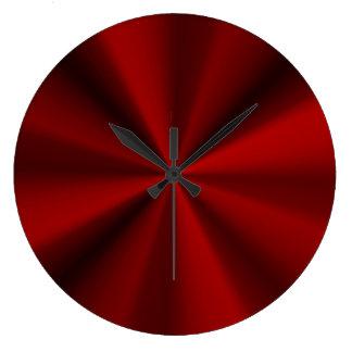 Shiny red large clock