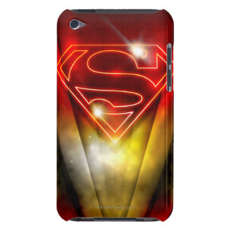 Shiny Red Outline Superman Logo iPod Case-Mate Cases
