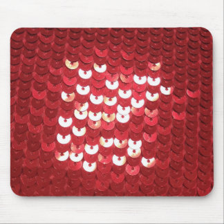 Shiny Red Sequins Mouse Mat