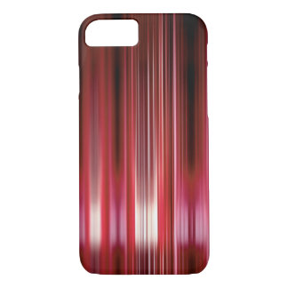 Shiny red speed lines iPhone 7 case