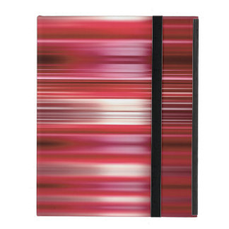 Shiny red speed lines pattern iPad cover