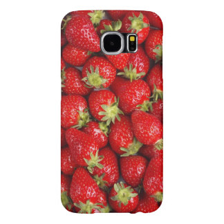 Shiny Red Strawberries Samsung Galaxy S6 Cases