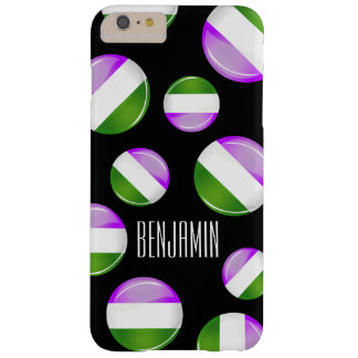 Shiny Round Genderqueer Flag Barely There iPhone 6 Plus Case