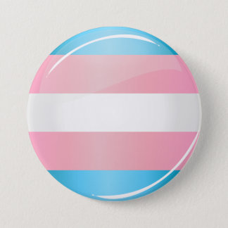 Shiny Round Transgender Pride Flag 7.5 Cm Round Badge