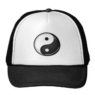 Shiny Round Yin Yang Symbol Cap
