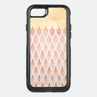 Shiny Salmon Pink Glitter Mermaid Fish Scales OtterBox Commuter iPhone 8/7 Case