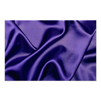 Shiny Satin cloth in blue Poster