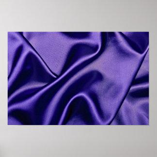 Shiny Satin cloth in blue Print