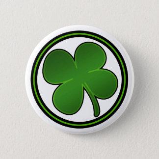 Shiny Shamrock Button
