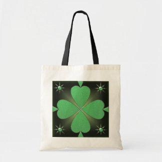 Shiny shamrock tote bag