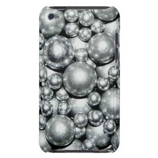 Shiny Silver Metal Beads iPod Case-Mate Case