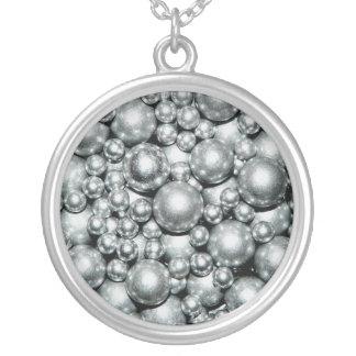 Shiny Silver Metal Beads Jewelry