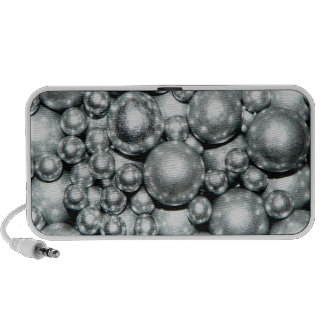 Shiny Silver Metal Beads iPhone Speakers