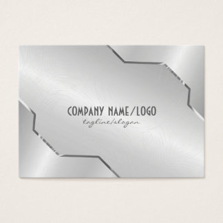Shiny Silver Metallic Design- Stainless Steel Look