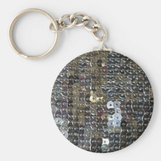 Shiny Silver Sequins Key Ring