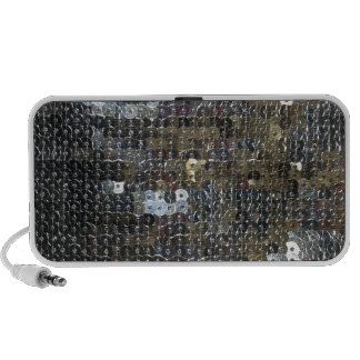 Shiny Silver Sequins Mini Speakers