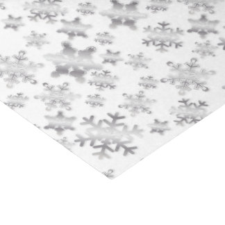 Shiny Silver Snowflakes - Tissue Paper
