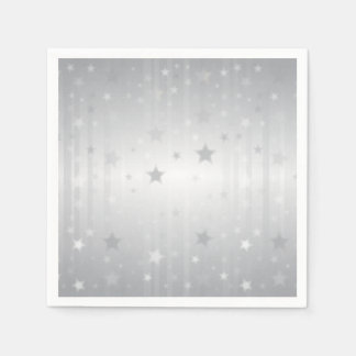 Shiny Silver Stars Disposable Serviette