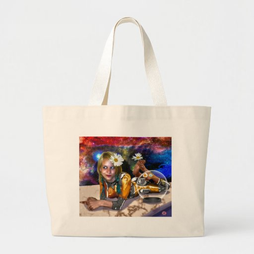 Shiny Spacey Whimsy Canvas Bags