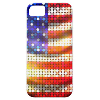 Shiny Sparkling Beaded Sequin American Flag Case