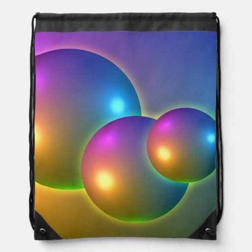 Shiny Spheres Cinch Bags