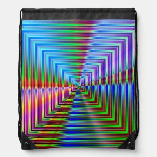 Shiny Squares Cinch Bags