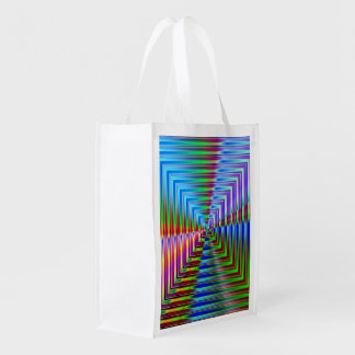 Shiny Squares Grocery Bags