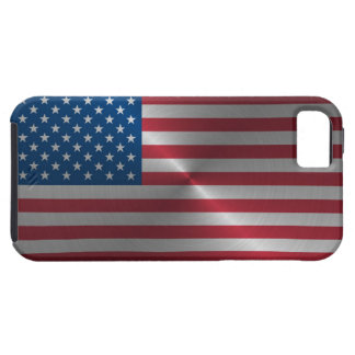 Shiny Steel USA Flag iPhone 5 Covers