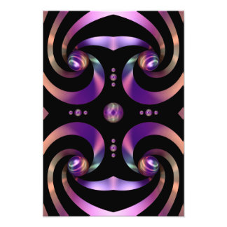 Shiny Swirl Ribbon Orbs Abstract Design Art Photo
