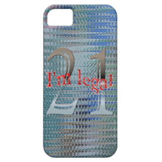 Shiny Textured I'm Legal Age 21 Years Old iPhone 5 Case