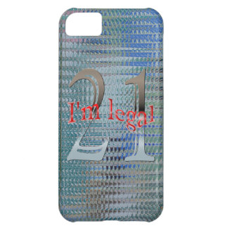 Shiny Textured I'm Legal Age 21 Years Old iPhone 5C Case