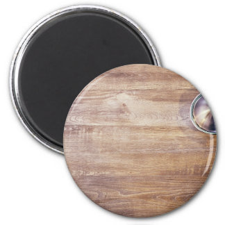 Shiny Themed, A Shining Utensil With A Curved Surf 6 Cm Round Magnet