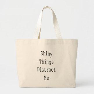 Shiny Things Distract Me Large Tote Bag