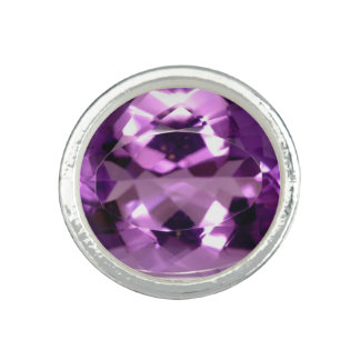 Shiny violet Amethyst gem February birthstone