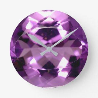 Shiny violet Amethyst gem February birthstone Wallclock