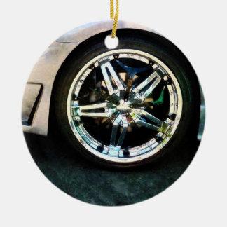 Shiny Wheels Christmas Ornament