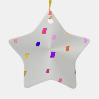 Shiny White Star > Patterned Xmas Ornaments